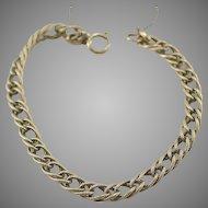 "14K YG Charm Rope Twist Double Link 7"" Bracelet 12 Grams"