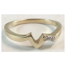 14K YG MCM Diamond Enhancer Band Ring Wrap Sz 6 1/2