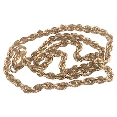 "10K YG Rope Chain Link Anklet 10"""