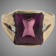 10K YG Man's or Lady's Purple Stone Ring Sz 5