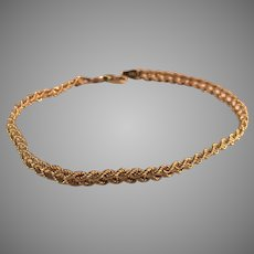 14K YG Double Rope Bracelet 7 3/8 Inches Long
