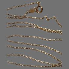 "14K Yellow Gold 18"" Pendant Chain 1 gm"