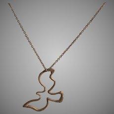 Tiffany & Co Paloma Picasso Sterling Silver Bird Chain & Pendant