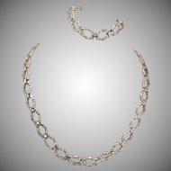 MCM Sterling Silver Natimex Necklace & Bracelet Set