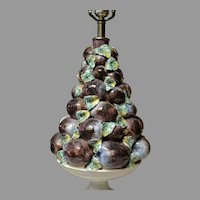 Italian Ceramic Plum Topiary Table Lamp