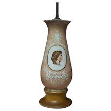 Paris Porcelain Portrait Vase converted to a Table Lamp