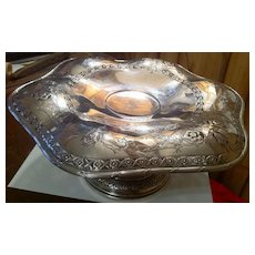 Large Dominick & Haff Sterling Silver Compote/Tazza