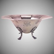 Sterling Silver Bowl with Paw Feet