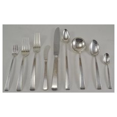 """Old Lace"" Sterling Silver Flatware Set by Towle Service for 8"