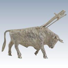 Bull Toothpick Holder with Sword Toothpicks