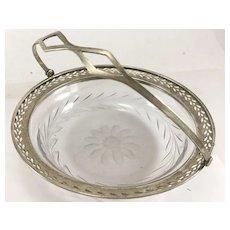 Webster Sterling and Cut Glass Basket