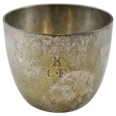 Crichton & Co, Ltd Sterling Silver Handleless Cup