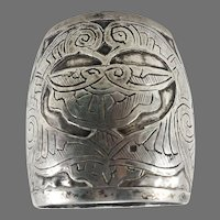 Sterling Silver Art Nouveau Napkin Ring