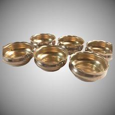Set of 6 Frank M. Whiting Sterling Silver Open Salt Cellars #358