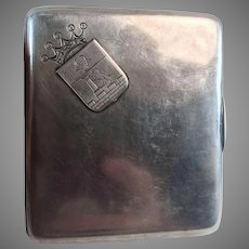 Russian Silver 84 Cigarette Case Box Dated 1899