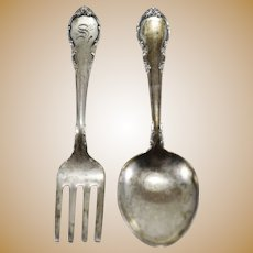 Modern Victorian by Lunt Sterling Silver Baby Fork & Spoon Set