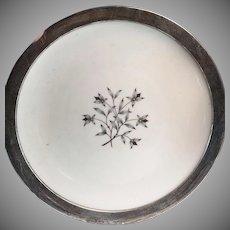 Lenox Princess Kingsley Pattern Towle Sterling Silver Rim Serving Dish Plate