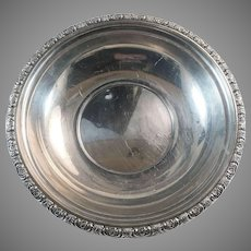 Prelude Pattern International Sterling Silver 9 3/4 Inch Bowl 305 Grams