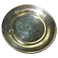 Sterling Silver Butter/Cheese Dish with Removable Liner