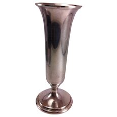 "S. Kirk & Sons 8"" Sterling Silver Trumpet Vase"