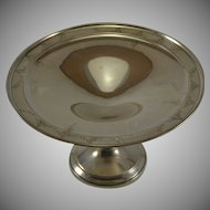 Sterling Silver Weighted Compote Tazza