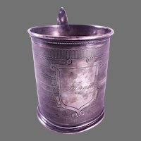 19th Century Gorham Coin Silver Mug/Cup