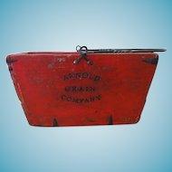 Vintage Wood Arnold Grain Company Bucket