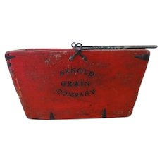 Vintage Wood Arnold Grain Company Bucket