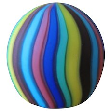 Vintage Fratelli Toso Murano Satin Art Glass Paperweight