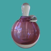 Vintage Studio Art Glass Handcrafted Perfume Bottle Signed