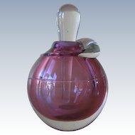 Vintage Studio Art Glass Handcrafted Perfume Bottle Signed