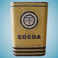 Vintage Jewel T Pure Cocoa 1930's Tin Can