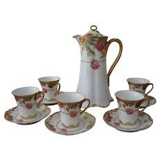 Haviland Limoges 1892 Chocolate Pot with Cups