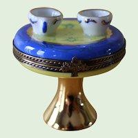 Vintage Limoges France Hand Painted Table Trinket Box