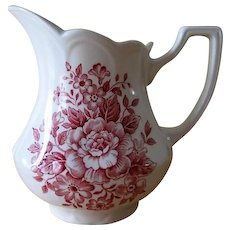 J&G Meakin England Royal Staffordshire Avondale Pink Ironstone Creamer - Red Tag Sale Item
