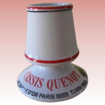 Vintage French Ceramic Match Holder and Striker
