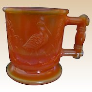 Boyd Orange Slag Glass Child Mug