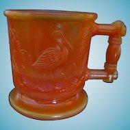Boyd Orange Slag Glass Child Mug