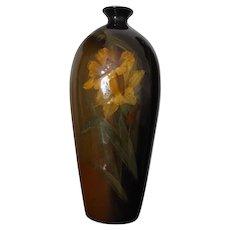 Vintage Roseville Pottery Rozane Jonquil Vase # 810 - 6