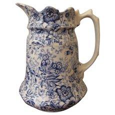 James Kent England Old Foley Pottery 18th Century Chintz Pitcher
