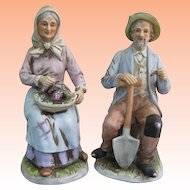 Homco Golden Years Bisque Figurines