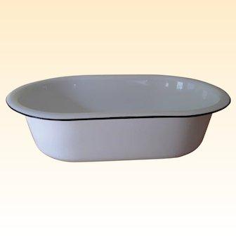 Vintage Porcelain Enameled Baby Bath Tub