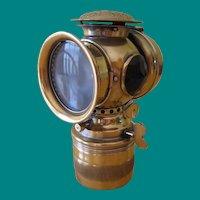 Antique Badger Brass Mfg. Co. Solar Carbide Bicycle Light