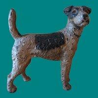 Vintage Hubley Cast Iron Fox Terrier Doorstop