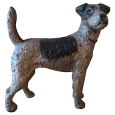 Vintage Hubley Cast Iron Fox Terrier Doorstop