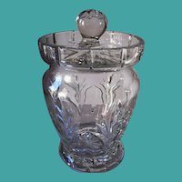 Waterford Crystal Biscuit Barrel Canterbury Pattern
