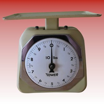 Vintage Tower Kitchen Scale 10 Lbs Capacity