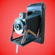 Vintage Green Folding Camera 1A Autographic Kodak Junior with Instructions