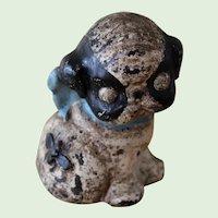 Vintage Hubley Cast Iron Puppo Still Bank