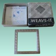 Vintage Weave It Wooden Weaving Hand Loom In Box